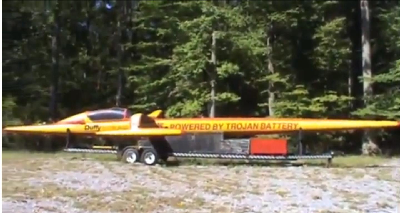 электрическая гоночная лодка